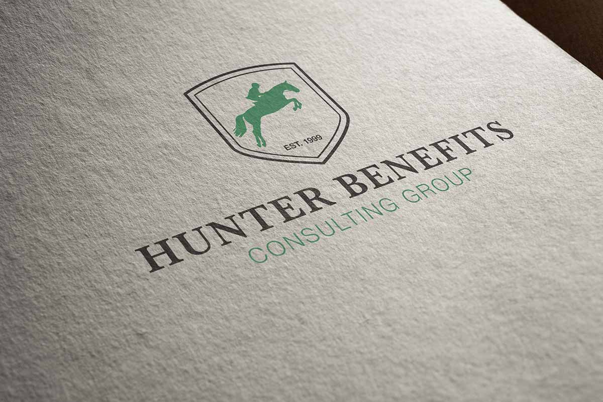 Hunter Benefits Consulting Group 20th anniversary logo