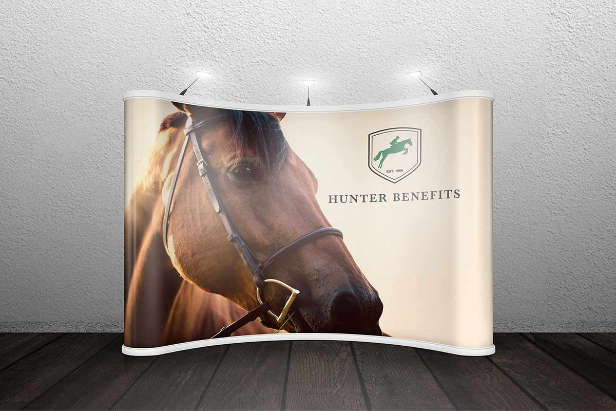 Hunter Benefits Consulting Group trade show booth mockup
