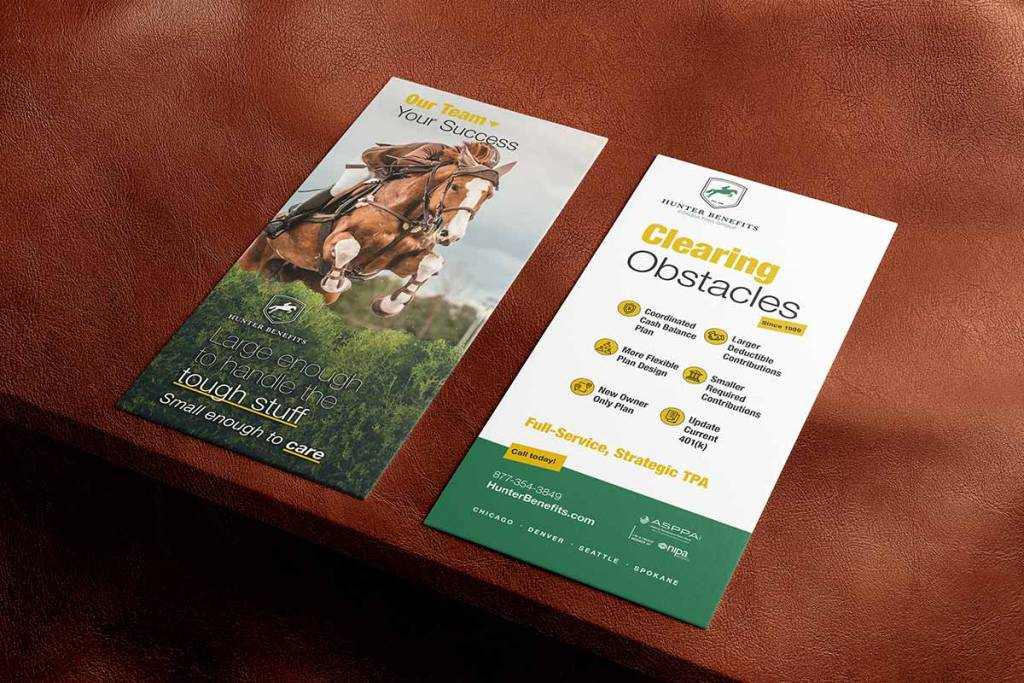 Hunter Benefits Consulting Group rack card mockup