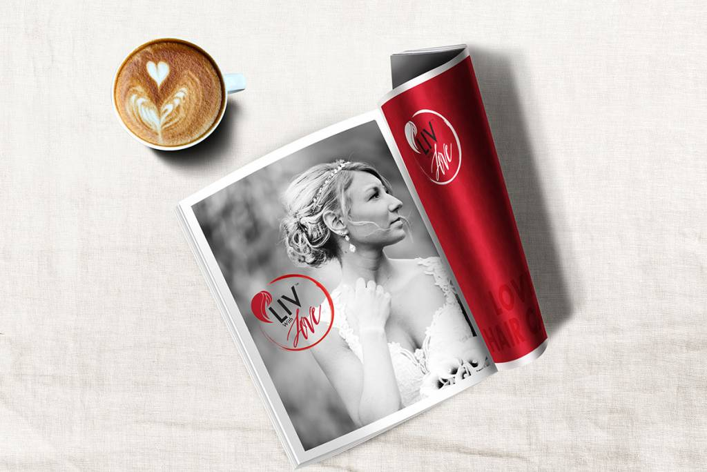 mockup of Liv With Love magazine ad