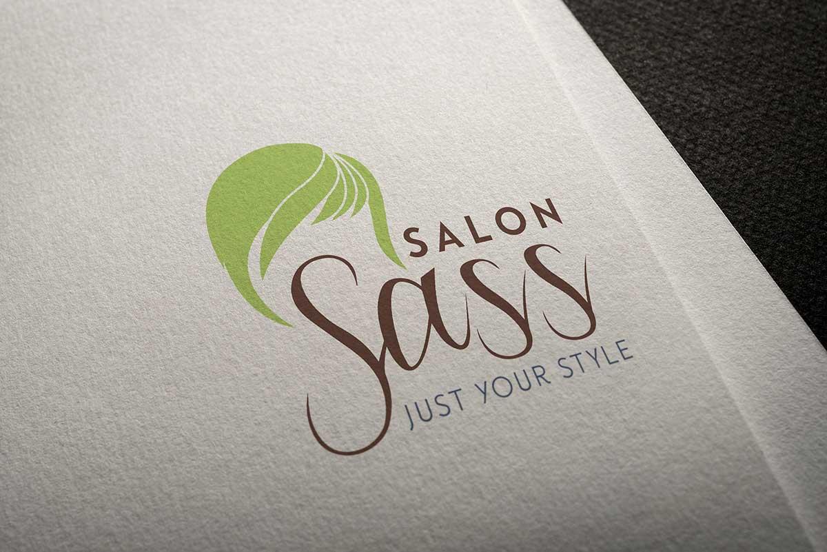 Salon Sass logo mockup