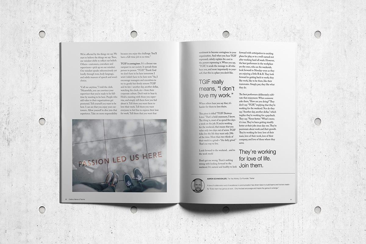 Creative Alliance of Tacoma magazine