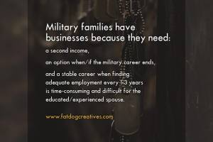 "graphic that reads ""Military families have businesses"""