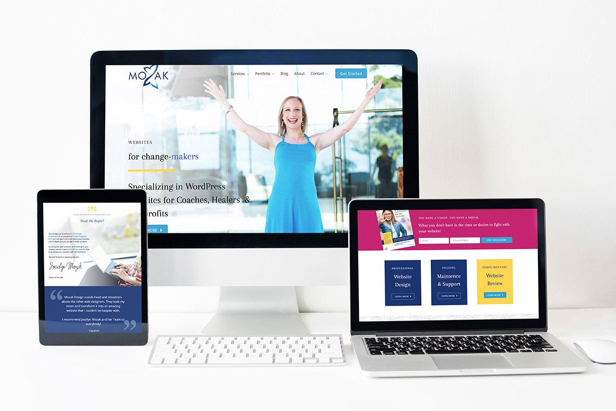 Mozak Design website mockup