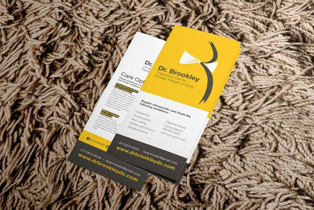 mockup of brochures for Dr. Brookley Pavnica