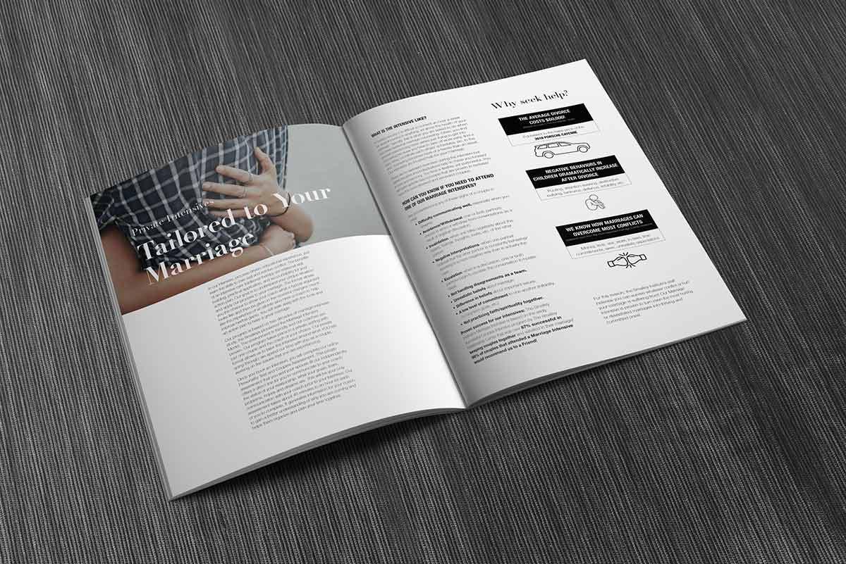 smalley institute's magazine spread mockup