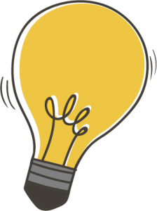 Illustration of a lightbulb
