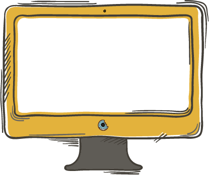 Illustration of a desktop computer