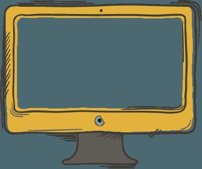 Illustration of a desktop computer