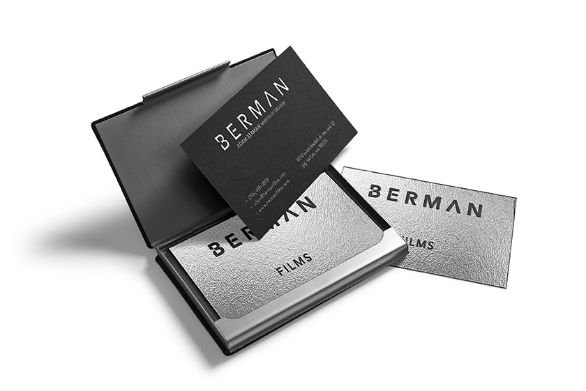 Berman Films business card mockp